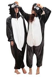 Anim-(2 pieces)Unisex <b>Kigurumi</b> Pajamas Costume Animal Couples ...
