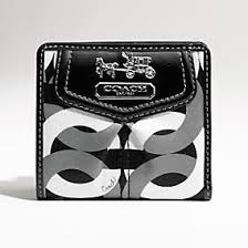 Coach New Madison Op Art Chainlink Small Wallet  43313
