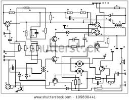 electric circuit diagram stock images royalty images electric scheme fantasy technology vector background