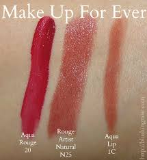 make up for ever lip swatches