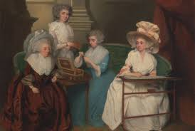 the secrets of getting dressed as an th century w mental floss lady jane mathew and her daughters unknown artist 1790 courtesy the yale center for british art paul mellon collection being an 18th century w
