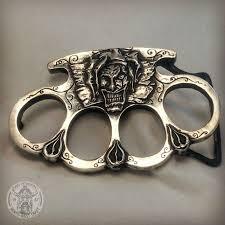 пряжка кастет литая из серебра Knuckles самодельное оружие