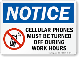 Cellular Phones Must Be Turned Off Sign Sku S 4977
