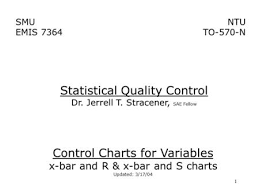 Quality Control Charts C Hapter 6 Control Charts For Variables I Ntroduction Variable A
