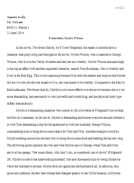 jeanette avina english  in my great gatsby essay i had to write about which character i thought was best represented from the novel by f scott fitzgerald or the film by baz