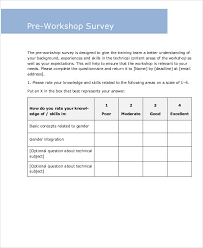Workshop Evaluation Form Mesmerizing 44 Sample Survey Forms In PDF Sample Templates