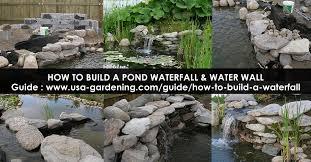 how to build a garden waterfall design idea