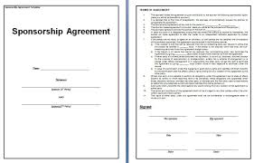 sponsorship contract template contract templates sponsorship contract template