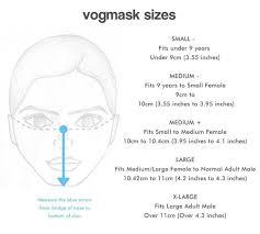 N95 Mask Size Chart Vogmask Kinski N95 Cv Mask