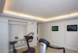 living room with molding and lighting home gym with crown molding and indirect lighting home gym design and decorating ideas