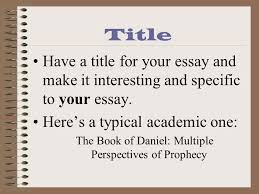 essay tips and grading symbols title have a title for your essay  2 title