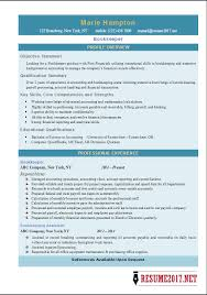 latest bookkeeper resume templates 2017 bookkeeper resume examples