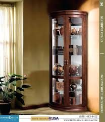 curved glass curio cabinet value antique replacement