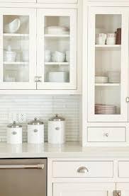 linear white glass tiles