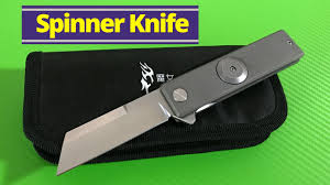 Spinner Knife <b>Titanium</b> linerlock with <b>D2 Steel</b> blade - YouTube