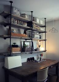 Rustic Kitchen Shelving Industrial Pipe Shelving Kitchen Photos