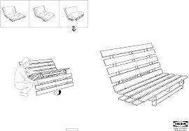 grankulla futon sofa frame 55x43x32