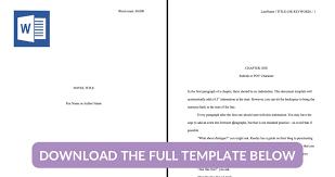 Manuscript Format A Guide For Novels Free Template