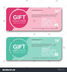 Coupon Outline Template Gift Certificate Coupon And Voucher Vector Adventure