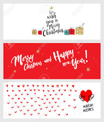 Set Of Christmas And New Year Social Media Banners Hand Drawn