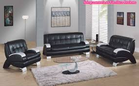Living room New black living room set ideas Black Leather Living