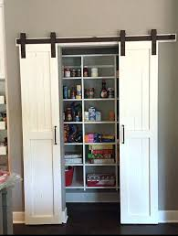 sliding pantry doors barn door kitchen cabinets