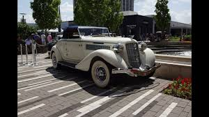 1936 auburn 852 sc supercharged cabriolet engine start up on my car story with lou coile