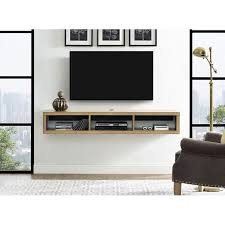 wall mounted tv component shelf
