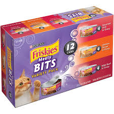 inspired kitchen cdab white brown: purina friskies meaty bits cat food variety pack   oz cans