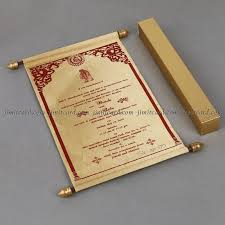 scroll invitations for marriage scroll invitations for wedding jimit card
