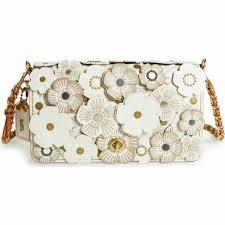 coach y flower appliqué leather cross bag womens fashion bags wallets on carou 8b32c c3e1d