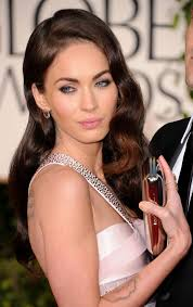 megan fox arrived at the 68th golden globe awards with her eyes enhanced by plenty of