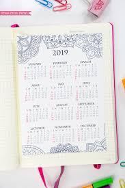 At A Glance Yearly Calendars 2019 Yearly Printable Calendar Mandala Coloring Design