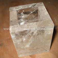 table lamp rock crystal square base