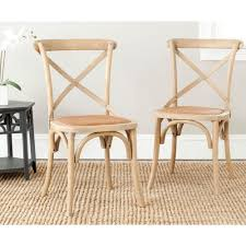 neoteric design x back dining chairs safavieh franklin weathered oak rattan chair set of 2 black