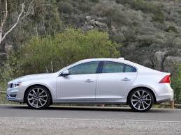 volvo s60 2015 silver. side view of the 2015 volvo s60 silver