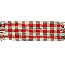 long cotton throw rug with tassel 2 x6 shacos reversible area rug runner rug for kitchen bathroom entry way laundry room washable hand woven red plaid