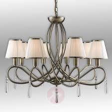 simplicity chandelier with eight fabric lampshades 8570621 01