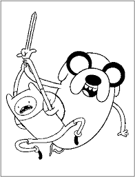 Adventure Time Coloring Pages Free Cartoon