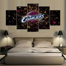 hd print 5 pcs cleveland cavaliers canvas wall art painting art home decor canvas art print on cleveland cavaliers wall art with hd print 5 pcs cleveland cavaliers canvas wall art painting art home
