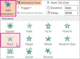 Powerpoint Animations Apply Multiple Animation Effects To One Object Powerpoint