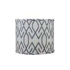 Homestyle 10 in. x 10 in. Dark Gray Lamp Shade-SD1561-12WD - The ...