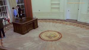 oval office floor. Time Lapse - Oval Office Set Up Floor