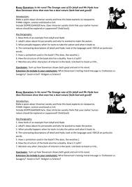 jekyll and hyde essay plan by temperance teaching resources tes