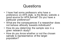What Is Apa Style Questions I Have Had Some Professors Who Have A Preference On Apa