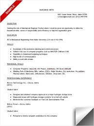 Objective Sample Resume Mechanical Engineering Fresher With ...