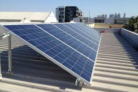 solar panels on the roof of a melbourne apartment building solar panel h91