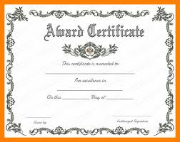 Free Award Certificate Templates For Students Awards Certificate Template Word Free Award Certificate Templates