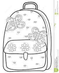 Small Picture Backpack Coloring Page Stock Illustration Image 52718445