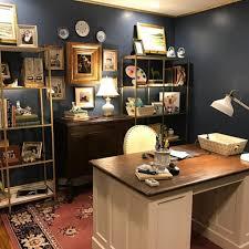 color scheme for office. Benjamin Moore Van Deusen Blue Navy Color Scheme Office Walls For
